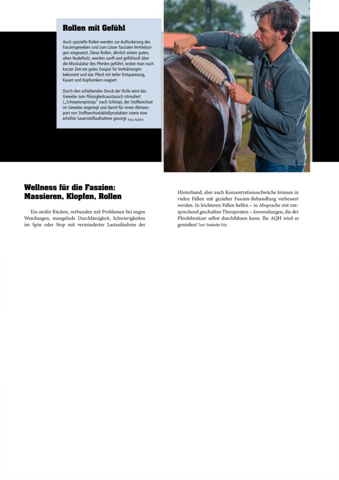 Quarter Horse Journal - Wellness für die Faszien