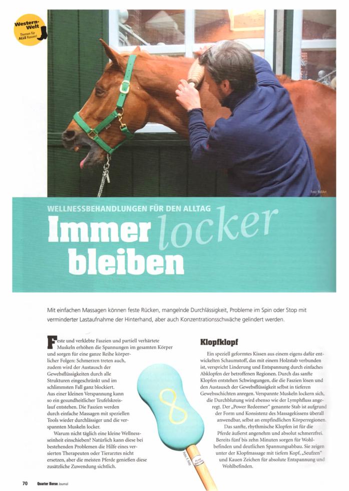 Quarter Horse Journal. Der Power Redeemer Horse im Einsatz.